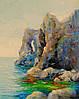 «Скалы у моря» картина маслом