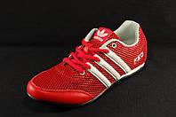 Красные женские кроссовки Adidas F50 сквозная сетка