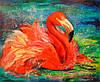 «Фламинго» картина маслом