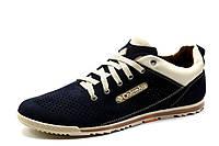 Туфли мужские Columbia, спортивные, темно-синие., кожа, фото 1