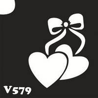 Трафарет № 579 сердечки