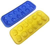 Формы для льда (12 кубиков) пластиковые ассорти фруктов