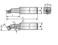 Резец резьбовой внутренний 25х25х240 ВК8, Т5К10, Т15К6 (ЧИЗ)