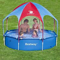 """Каркасный бассейн """"С зонтиком и душем"""" BestWay 56193 (244х51 см)"""