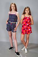 Детский летний костюм для девочки майка и шорты