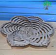 Деревянная тарелка, сувенирная тарелка, блюдо деревянное большое, фото 2