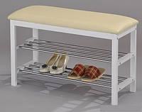 """Полка-скамейка для обуви """"SR-0628-WT"""" (белая)"""
