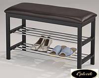 "Полка-скамейка для обуви ""SR-0628-W"" (черная)"