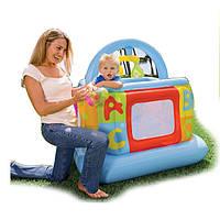 Надувной детский манеж - батут Intex 48473