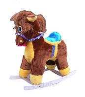 Плюшевая лошадка-качалка для детей, в разных расцветках