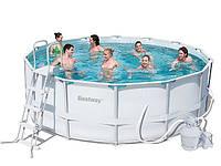 Каркасный бассейн в дом BestWay 56276 + песочный насос