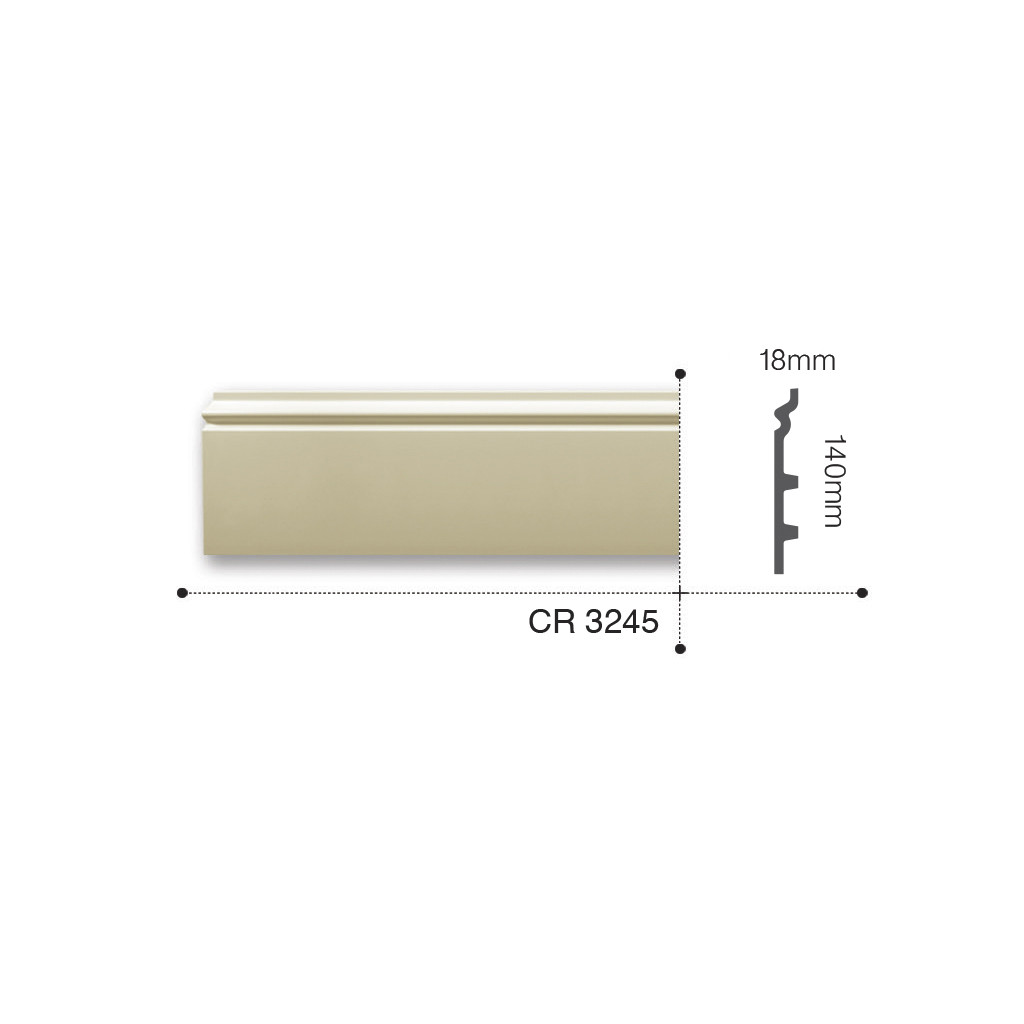 Плинтус Gaudi CR3245 (140х18)мм