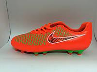 Бутсы Nike Magista оранжево-зеленые