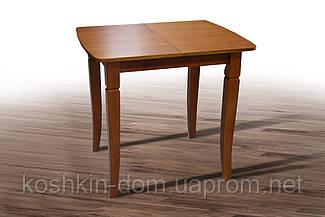 Стол обеденный Линда коньячный шпон дуба 80(+35)*65 см