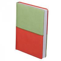 Ежедневник недатированный Quattro, зеленый с оранжевым