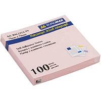 Блок бумаги для записей с клейким слоем BUROMAX АССОРТИ 76x76