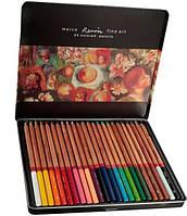 Набор цветных карандашей Marco Renoir 24 цвета в мет. короб.