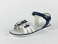 Босоножки сине-белые открытые с ортопедической стелькой р.36 девочкам для жаркого лета