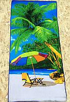 Полотенце для пляжа с пальмами