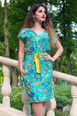 Платье цветочное со штапеля