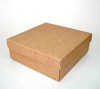 Коробка подарочная из крафт картона, 200х200х70 мм.