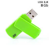 """Флешка """"COLOUR"""" під логотип 8 Gb USB 2.0 зелена"""