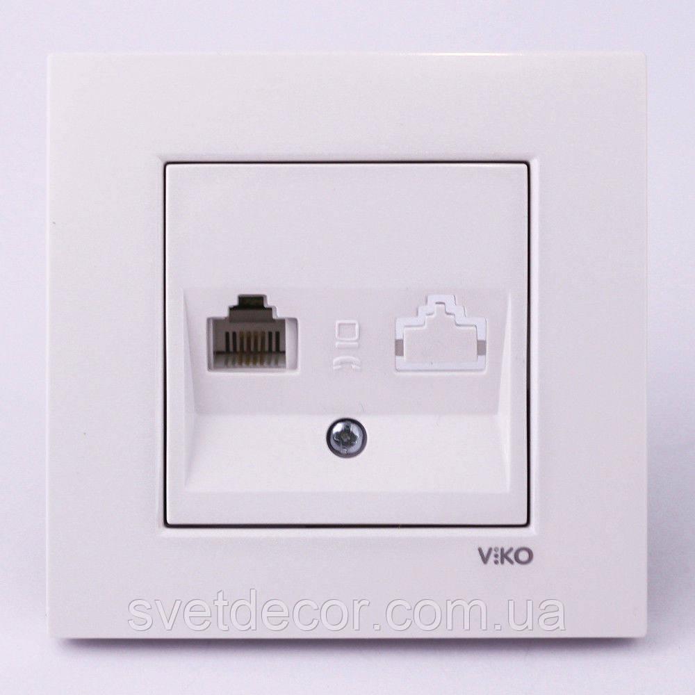 Розетка компьютерная ПК VIKO Karre скрытой установки