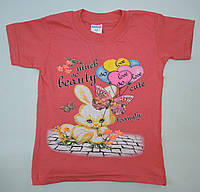 Дешевая футболка для девочки 1-3 р