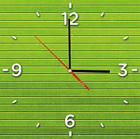 "Стеклянные часы квадратные ""Бамбук"""