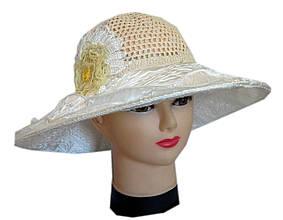 Женская льняная шляпа