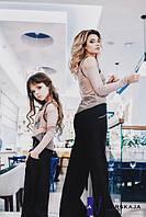 Детский модный комплект из 2-х изделий:топ-сетка и  укороченный топ с мысом-лодочкой 1602/35 ЮГ, фото 1