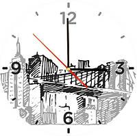 """Стеклянные часы квадратные """"Нью Йорк"""""""