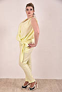 Женский легкий костюм на лето 0268-1 цвет желтый размер 42-74, фото 2