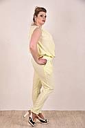Женский легкий костюм на лето 0268-1 цвет желтый размер 42-74, фото 3