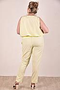 Женский легкий костюм на лето 0268-1 цвет желтый размер 42-74, фото 4