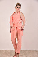 Женский легкий костюм на лето 0268-1 цвет персик размер 42-74, фото 2