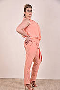 Женский легкий костюм на лето 0268-1 цвет персик размер 42-74, фото 3