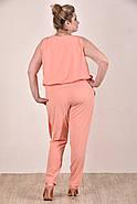 Женский легкий костюм на лето 0268-1 цвет персик размер 42-74, фото 4