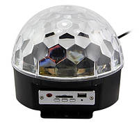 Музичний міні-проектор для вечірок LED Crystal magic ball light MP3 SD card з флешкою, фото 1