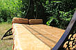 """Качели садовые """"Дубаи"""" черного/коричневого цвета (с мягкой частью), материал основы сидения - дуб, фото 4"""