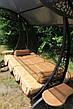 """Качели садовые """"Дубаи"""" черного/коричневого цвета (с мягкой частью), материал основы сидения - дуб, фото 6"""