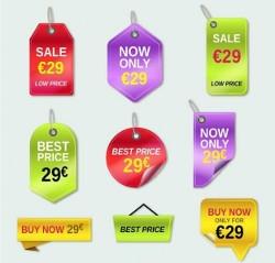 Дизайн ценников на товар