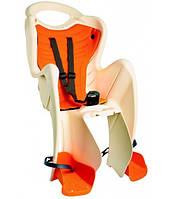 Сиденье заднее Bellelli B1 Сlamp (на багажник) до 22кг, бежевое с оранжевой подкладкой