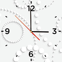 "Стеклянные часы квадратные ""Абстракция"""