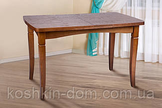 Стол обеденный Леон орех шпон дуба 110(+40)*70 см
