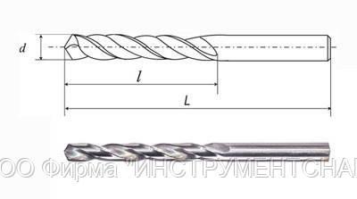 Сверло ц/х 12,3 мм дл.сер.,Р6М5