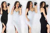 Длинное платье с разрезом к-40317