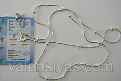 Серебряная цепочка с шариками, фото 3