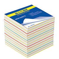 Блок бумаги для записей BUROMAX «РАДУГА» 90х90х60