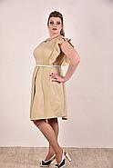 Женское батальное платье на лето 0294 цвет горчица до 74 размера / больших размеров, фото 2
